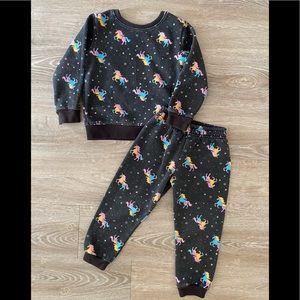 Girl's Garanimals Comfy Matching Unicorn Sweatshirt and Sweatpants